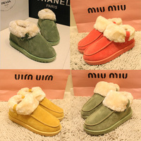 2013 winter sweet candy color bow cotton-padded shoes boots lovers snow boots plush boots cotton thermal