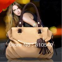2013 autumn/winter New tassel restoring ancient ways women shoulder handbag wholesale composite skin