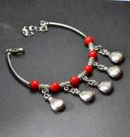 Free Shipping Handmade National trend unique accessories fashion female lucky purse tibetan Tibet silver bracelet X'mas Gift