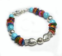 Free Shipping Handmade Jewelry small accessories turquoise tibetan Tibet silver bracelet female X'mas Gift