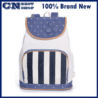 free shipping Female backpack fashion backpack drawstring casual canvas school bag preppy style backpack