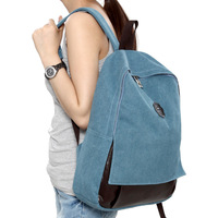 free shipping Computer preppy style canvas backpack school bag brief casual backpack