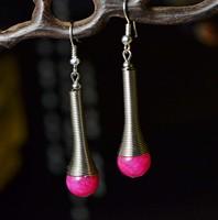 Free Shipping Handmade National trend accessories  women's vintage tibetan Tibet silver drop earring X'mas Gift