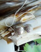 Free Shipping Handmade Fashion all-match Women short design  Dollarfish Tibetan Tibet silver jewelry pendant necklace X'mas Gift