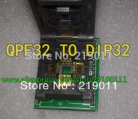Free shipping Universal IC Adapter Socket LQFP TQFP QFP 32 to DIP32 TQFP32 QFP32 to DIP32 Programmer for Xeltek 280U/580U/3000U