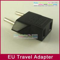 Free shipping + 50pcs/lot US/USA TO EUROPEAN EU TRAVEL PLUG Charger ADAPTER Converter AC Power ADAPTER Hot!