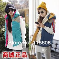 Plus size cotton vest cotton Women down vest fashion waistcoat autumn and winter casual hooded vest