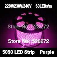 100m 220V230V240V 5050SMD LED light Strip+5PC plug,pink and purple party decorations led tape Good Quality
