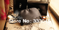 FREE shipping women fashion black brand cosmetic case professional makeup organizer bag designer clutch bag vintage purse