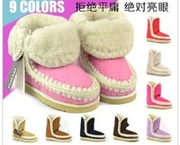 Free shipping,2013 Women girls Winter Warm Pure wool low heels short boots flats,snow boots,8 colors