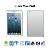 2013 NEW!!!Mini Pad 7 Inch 3G Android Tablet PC Mini Phone MTK8389 Quad Core 1G Ram 8G ROM Dual Sim Card GPS