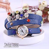 Fashion unique dermal skeleton with flash 6 women bracelet watch watch color free shipping