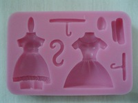 New Arrival Beautiful Skirt dressing shaped 3D silicone cake fondant mold, cake decoration tools, soap, candle moulds