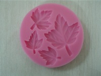 Free Shipping New Arrival Leaf shaped 3D silicone cake fondant mold, cake decoration tools, soap, candle moulds