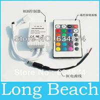 Wholesale 12V 24Key IR Remote Controller for SMD 3528 5050 RGB LED SMD Strip Lights free shipping