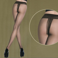 Free shipping Chokecherry ultra-thin t stockings pantyhose ultra-thin open toe step pantyhose female