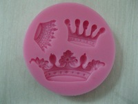 Free Shipping New Arrival imperial crown shaped 3D silicone cake fondant mold, cake decoration tools, soap, candle moulds