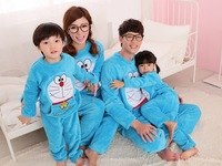 2013 winter women pajama set flannel Doraemon parent-child pajama set couple housewear pajama set free shipping high quality
