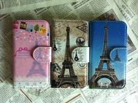 Retail selling For  Samsung Galaxy ace II i8160 Paris eiffel Tower Paris Building Whole Leather Cover Case Skin