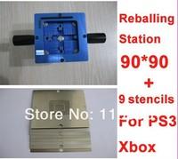 Free shipping xbox360 ps3 IC reballing tool kit 90mm reball station with 9pcs BGA stencils