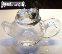 Natural aa golden cicada crystal teapot