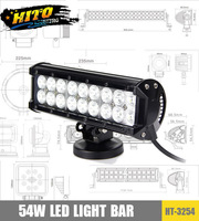 "NEW HT-3254-54W 9"" 2 rows LED light bar"