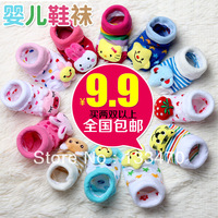 Baby footgear stereoscopic discontinuing socks cartoon baby non-slip socks child socks toddler floor socks