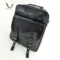 2013 general student school bag preppy style PU rivet backpack fashion backpack female