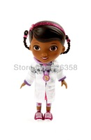 Hot selling!!!Original Doc McStuffins doll, Doc white uniform series,13cm,mini dolls for girls+free shipping
