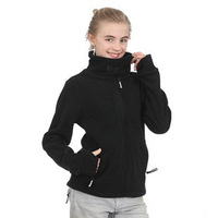 Bench Super soft thick autumn and winter women's outdoor polar fleece fabric sports sweatshirt outerwear casual cardigan
