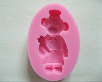 Free shipping New Arrival bear shaped 3D silicone cake fondant mold, cake decoration tools, soap, candle moulds