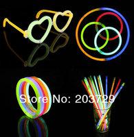 Hot Sale Christmas Celebration Festivities Ceremony Fluorescent Bracelets Night Glow Sticks LED Toys  400pcs/lot
