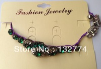 Shourouk style luxury Hand catenary purple rope Gem woven bracelet atmosphere