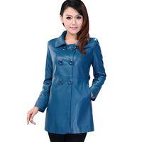 2013 leather clothing female genuine leather clothing medium-long slim leather trench sheepskin leather coat