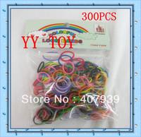 Free ship FedEx  Wholesale 50bags 300pcs/bag colorful loom bands loom rubber bands loom kit DIY bracelets Christmas gift present