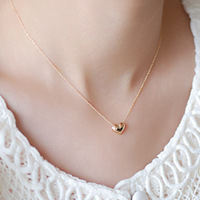 Classic hot-selling love necklace female fashion 14k gold necklace female short design chain