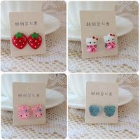 2013 new Children's earrings clip earrings wholesale earrings cartoon earring wholesale baby jewelry Christmas Gifts