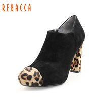 Rebecca rebacca sheepskin horsehair sexy british style women's shoes boots r26lt02z