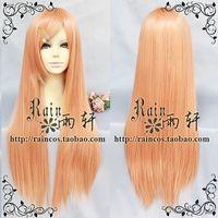 New Light Orange long straight Codplay Heat-Resistant wig