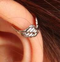 Copper  Unisex Charming PUNK  Wings Openings  No Piercing Ear Cuff/Ear Wrap,10pcs/lot