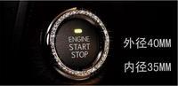 Modified car diamond car stickers ring key start button diamond ring modified free shipping