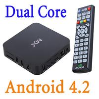 EU Plug Android 4.2 Dual Core google MX mini pc TV Box 1.6Ghz 1G DDR3 8GB Full HD 1080P bluetooth tv stick Wifi 2.4G keyboard