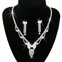 Min Order $5 (Mix Order) Free Shipping Rhinestone Necklace Set Rhinestone Wedding Necklace Bridal Jewellery Set Necklace 6330#
