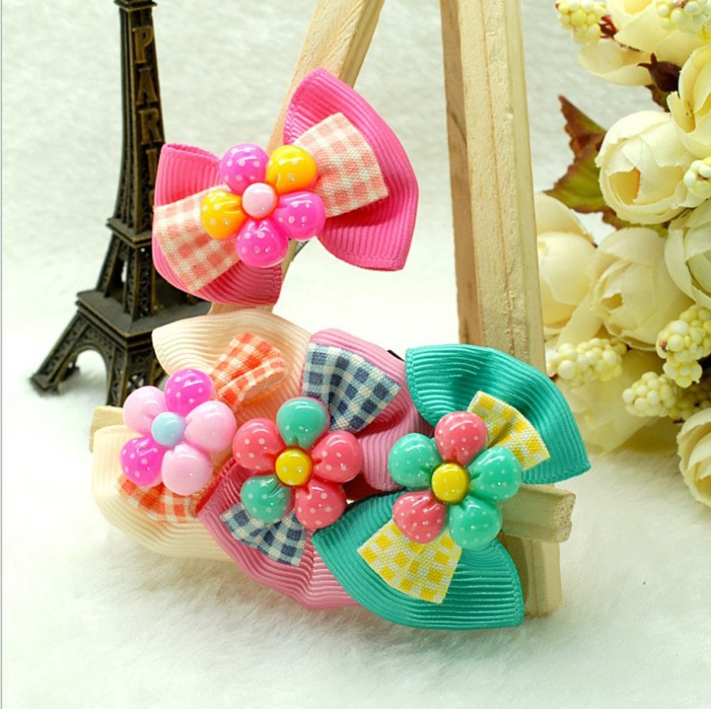 Cute candy colors girls sunflowers bow hairpins,children's headwear, kids hair accessories Apparel & Accessories(China (Mainland))