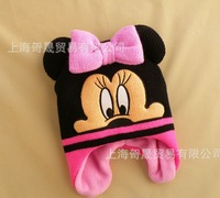 Free shipping 2013 Children Kids Winter Minnie/ Mickey Earflap Warm Hats Children's Christmas Gift Cap Girls Beanies