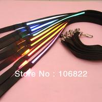 SL00312 Free shipping&Drop shipping Pets Safety LED Leash Rope Belt Flashing Harness Lead Light Black Nylon 8 Colors