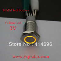 100pcs 16mm ring 3v led,Latching 1no1nc,Stainless steel ,Ce Metal pushbutton switch