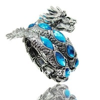 Fashion jewelry Dragon Bangle Newest Tensile Dragon Bracelet Dragon Jewellery 6 Colors 6pcs/lot Free Shipping