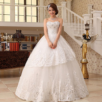 2013 wedding formal dress luxury rhinestone tube top bandage wedding dress bridal wedding qi 176