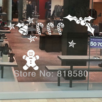 Free Shipping Home Decor Christmas Bells Snowflake Window Vinyl Wall Art Stickers Wall Decals(60 x 80cm/piece)